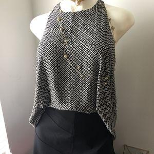Loft skirt and sleeveless blouse